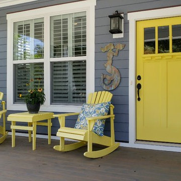 Front Porch--The SEAGULL COTTAGE at THE COTTAGES AT OCEAN ISLE BEACH