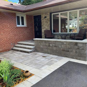 Front yard steps,walkway