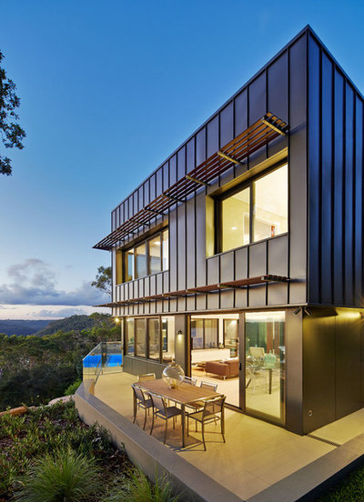 Contemporary Exterior by Sanctum Design