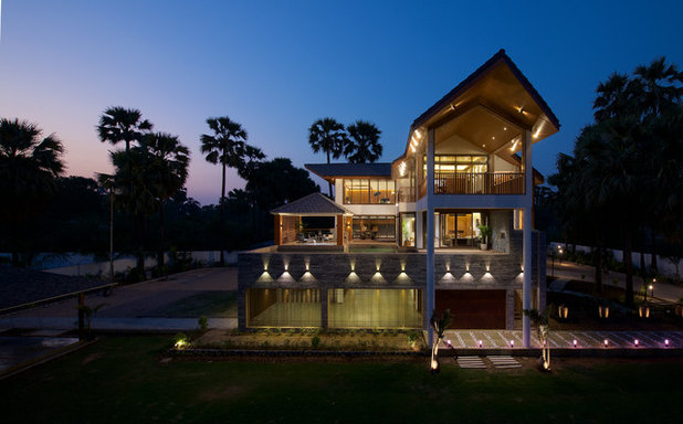 Asian Exterior by B DESIGN 24 Studio