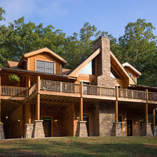 Traditional Exterior by Broyhill Wiles Log and Timber Frame Builders