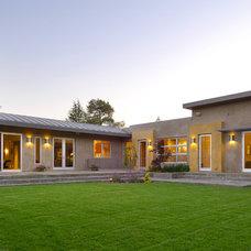 Contemporary Exterior by square three design studios