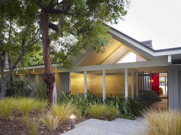 Midcentury Exterior by Gary Hutton Design