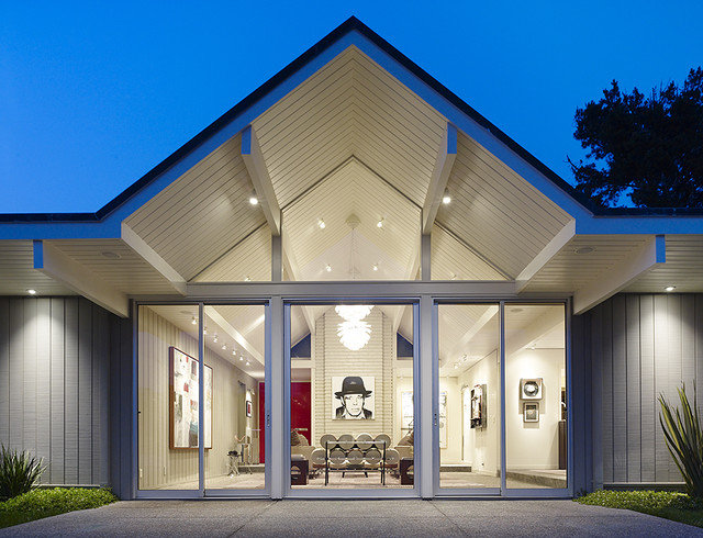 Midcentury Exterior by Gary Hutton Design