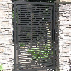 Contemporary Home Fencing And Gates by Aztec Artistic Productions