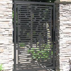 Gate - Aluminum gate with powder coat finish