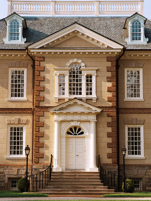 Quoins houzz - Georgian style exterior lighting ...