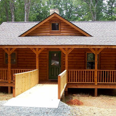 Rustic  by LogHomesByJack.com = Log & Timber Frame Homes