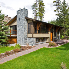 Traditional Exterior by Sticks and Stones Design Group Inc