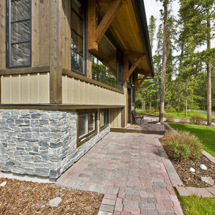 Inspiration for a contemporary exterior home remodel in Calgary