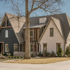 Transitional Exterior by Millworks Designs