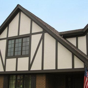 Glenview, IL Siding Tudor Style James Hardie Siding