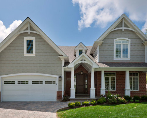 Gable trim houzz for Exterior decorative trim for homes