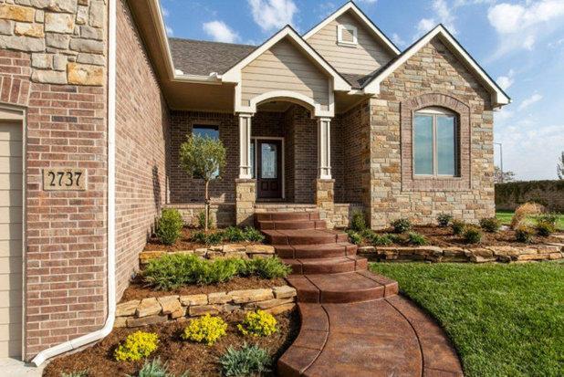 Rustic Exterior by Bob Cook Homes, LLC