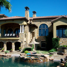 Mediterranean Exterior by Gourmet Paint Company