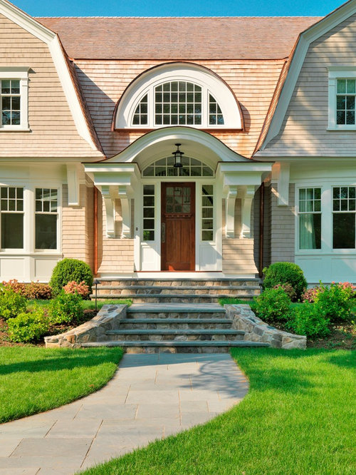 Front Steps Design Ideas front steps Inspiration For A Mid Sized Timeless Two Story Wood Exterior Home Remodel In Boston
