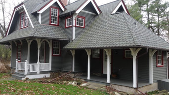Gray Exteriors with Pops of Trim