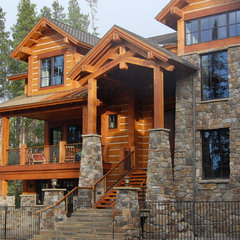 eclectic exterior by Great Divide Builders
