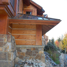 Rustic Exterior by Great Divide Builders