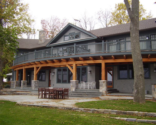 Cedar Wrapped Deck Posts Ideas additionally Kb Classical Moulding Featured 3000 Square Foot New City Ny Project in addition Shutter Styles Mission Style further Green House Siding Colors besides Dark Lower Cabi s Cream Upper. on craftsman exterior paint ideas