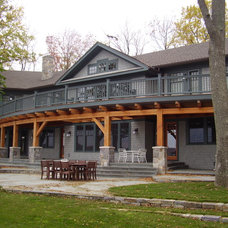 Traditional Exterior Great House on Canandaigua Lake