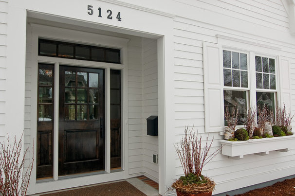 Transitional Exterior by Great Neighborhood Homes