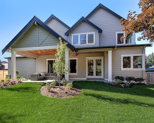 Traditional exterior design ideas renovations photos for Exterior design vancouver wa