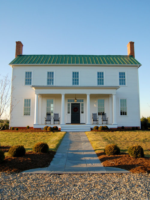 Greek Revival Farmhouse Cool Greek Revival Farm House  Houzz Decorating Design