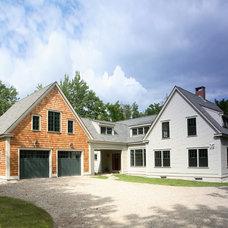 Farmhouse Exterior by Fine Lines Construction
