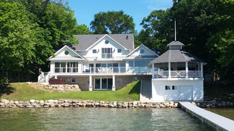 Green Home on Lake in Wisconsin