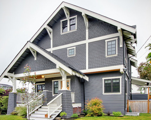 Custom gable trim home design ideas pictures remodel and for Craftsman gable