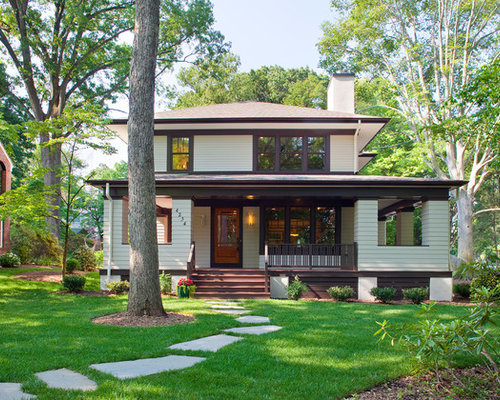 Traditional Two Story Exterior Home Idea In DC Metro With A Hip Roof