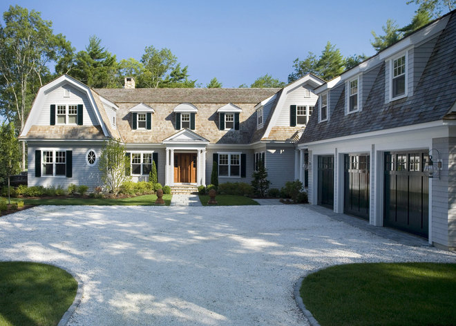roots of style dutch colonial homes settle on the gambrel On dutch colonial garage plans