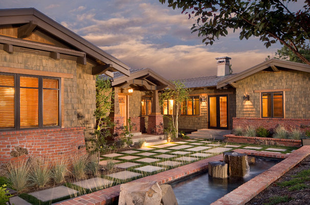 Traditional Exterior by Homeland Design, llc