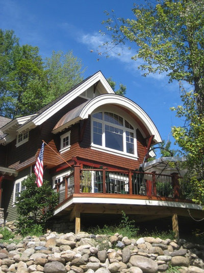 Traditional Exterior by SAS Builders LLC