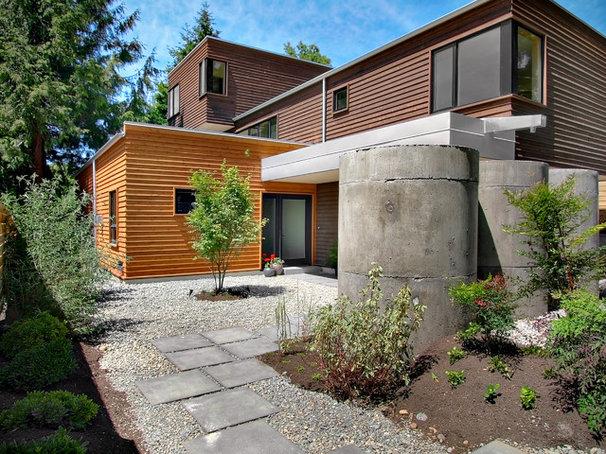 Contemporary Exterior by Fivedot Design Build