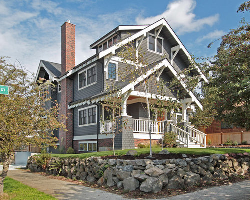 Craftsman gable end detail houzz for Craftsman style gables