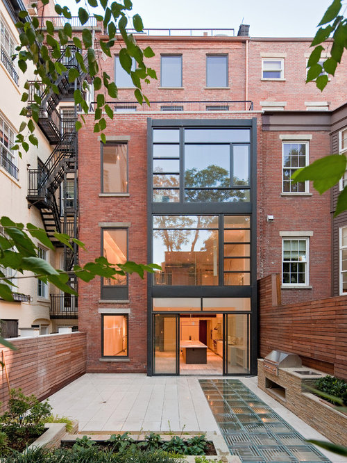 Brick townhouse houzz for 3 story townhomes