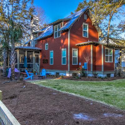 Elegant red exterior home photo in Atlanta