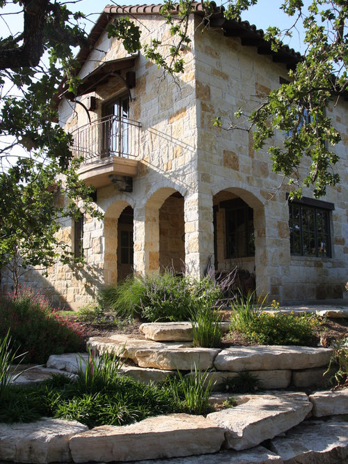 Austin stone home design ideas pictures remodel and decor for Mediterranean stone houses