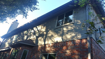 Gutter System Installation on Red Brick House in Kingsland, TX