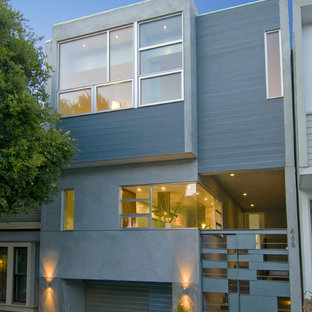 This is an example of a modern concrete house exterior in San Francisco.