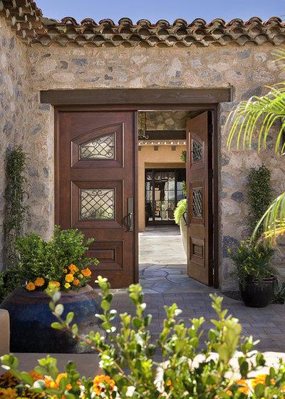Mediterranean Exterior by Hallmark Interior Design LLC