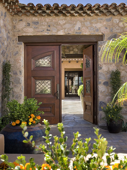Beam above door home design ideas pictures remodel and decor for Mediterranean style entry doors
