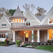 Traditional Exterior by Eskuche Design