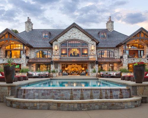 Haus Mit Steinfassade rustikale häuser mit steinfassade ideen design bilder houzz