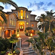 Tropical Exterior by Anne Folsom Smith Interior Design