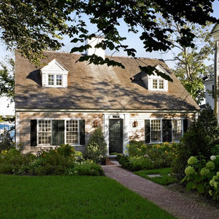 Inspiration For A Beach Style Two Story Wood Exterior Home Remodel In Boston
