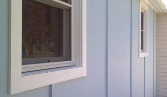 Hardie panel siding with batton trim