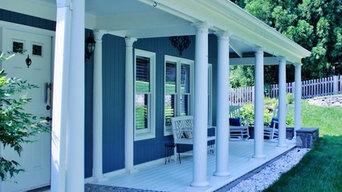 Hardie Plank lap siding, Cabin John, Maryland -Boothbay Blue